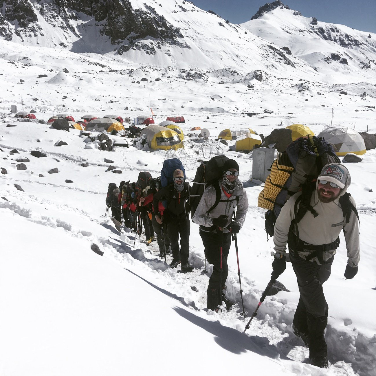 Leaving Camp Aconcagua