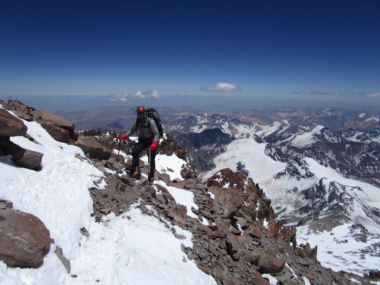 Close to Summit of Aconcagua