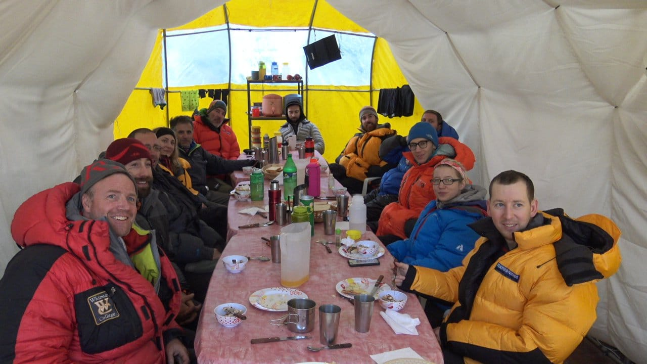 Meal at Base Camp
