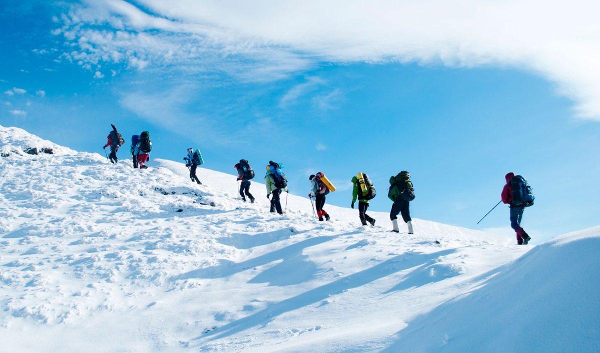 Climbing to Camp